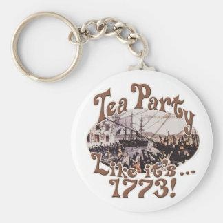 Camisetas 1773 y regalos de la fiesta del té de Bo Llaveros