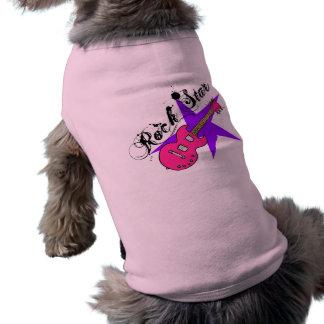 Camisetas a juego de la guitarra de la estrella de playera sin mangas para perro