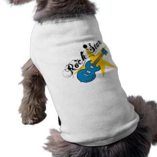 Camisetas a juego de la guitarra de la estrella de camisas de perritos