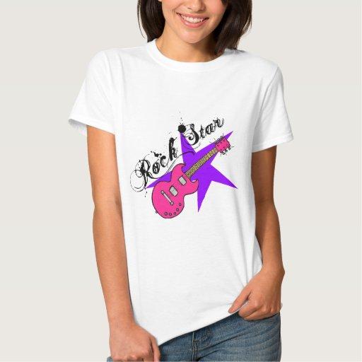 Camisetas a juego de la guitarra de la estrella playera