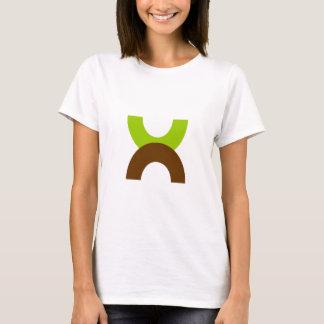 Camisetas abstractas de los semi-círculos