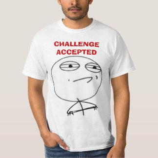 Camisetas aceptadas desafío de la cara del meme playera