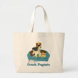 Camisetas adaptables adorables de Pugtato del sofá Bolsas De Mano