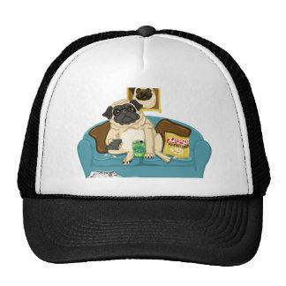 Camisetas adaptables adorables de Pugtato del sofá Gorras De Camionero