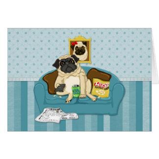 Camisetas adaptables adorables de Pugtato del sofá Felicitaciones