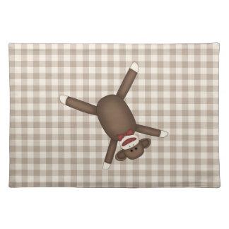 Camisetas adaptables adorables del mono del calcet mantel individual