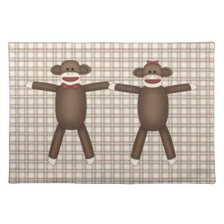 Camisetas adaptables adorables del mono del calcet manteles individuales