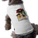 Camisetas adaptables adorables del pirata del barr ropa de perros