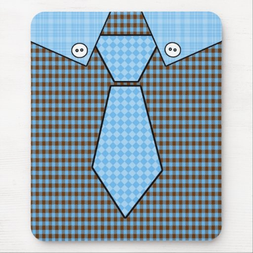 Camisetas adaptables de la camisa y del lazo del d alfombrillas de ratón