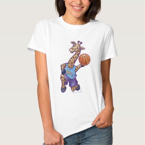 Camisetas adaptables de las señoras de la jirafa d remera