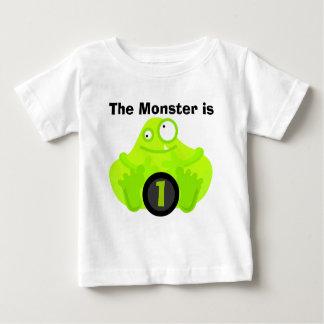 Camisetas adaptables del cumpleaños del monstruo camisas