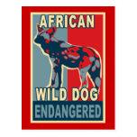 Camisetas africanas en peligro del arte pop del pe tarjetas postales