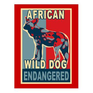 Camisetas africanas en peligro del arte pop del tarjetas postales