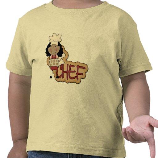 Camisetas afroamericanas y regalos del cocinero
