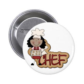 Camisetas afroamericanas y regalos del cocinero de pin