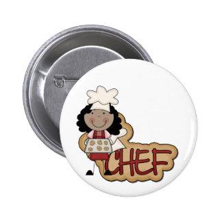 Camisetas afroamericanas y regalos del cocinero de pins
