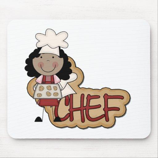 Camisetas afroamericanas y regalos del cocinero de tapetes de ratón