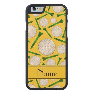 Camisetas amarillas conocidas personalizadas de funda de iPhone 6 carved® slim de arce