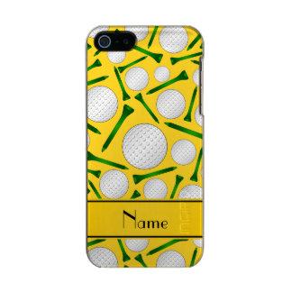 Camisetas amarillas conocidas personalizadas de carcasa de iphone 5 incipio feather shine