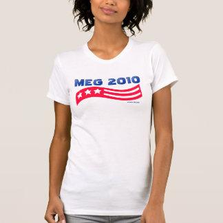 Camisetas americana blanco de Meg Whitman y azul
