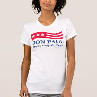 Camisetas americana blanco de Ron Paul y azul rojo