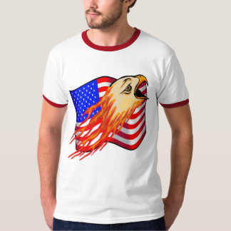 Camisetas americanas de Eagle calvo Playera