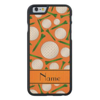 Camisetas anaranjadas conocidas personalizadas de funda de iPhone 6 carved® slim de arce