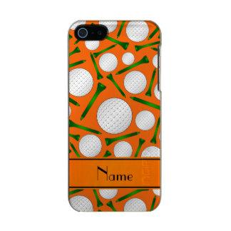 Camisetas anaranjadas conocidas personalizadas de carcasa de iphone 5 incipio feather shine