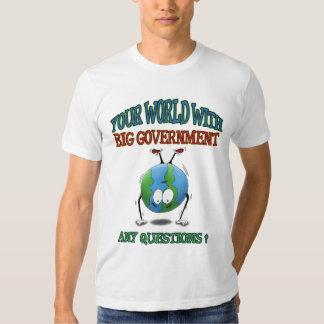 Camisetas Anti-Grandes del gobierno: Su mundo Remera