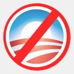 Camisetas antis de NOBAMA Obama, tazas, sudaderas Pegatina Redonda
