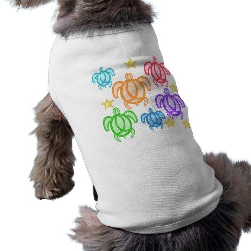 Camisetas apenado del perro de las tortugas del ar camisa de mascota