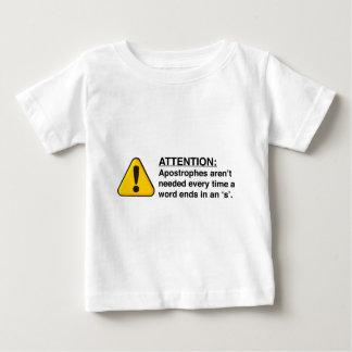 Camisetas apropiadas del uso del apóstrofe playeras