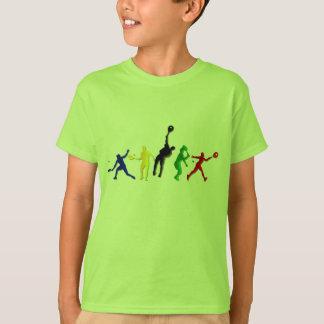 Camisetas atléticas y tenis de los jugadores de remera