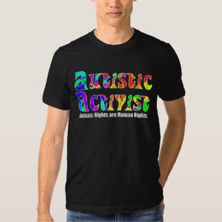 Camisetas autístico del activista (color) camisas