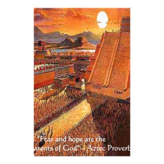 Camisetas aztecas y tarjetas de los regalos del  papeleria