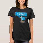 camisetas azules lindas de las señoras del pájaro