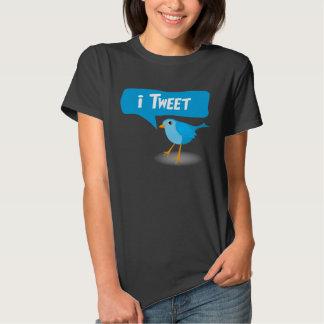 camisetas azules lindas de las señoras del pájaro remera