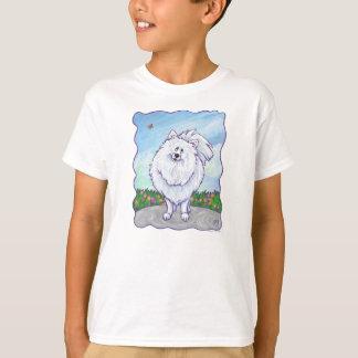 Camisetas blancas de Pomeranian Playera