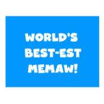 Camisetas blancos y negros del Mejor-est Memaw del Postal
