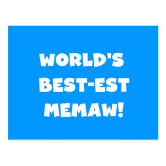 Camisetas blancos y negros del Mejor-est Memaw del Tarjeta Postal