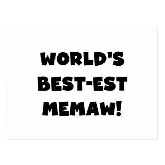 Camisetas blancos y negros del Mejor-est Memaw del Tarjetas Postales