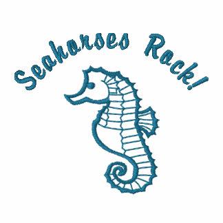 Camisetas bordadas personalizable del Seahorse
