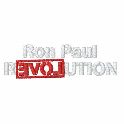Camisetas bordado revolución de Ron Paul Chaqueta