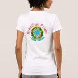 Camisetas brasileñas del escudo de armas del orgul