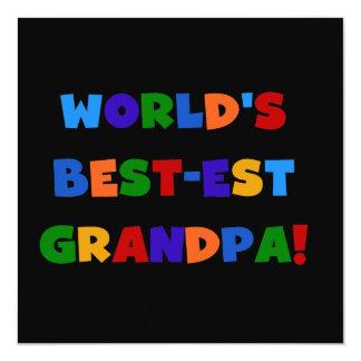 Camisetas brillantes de los colores del abuelo del anuncio personalizado