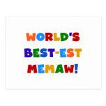 Camisetas brillantes de los colores del Mejor-est  Postal