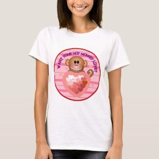 Camisetas calientes del amor del mono