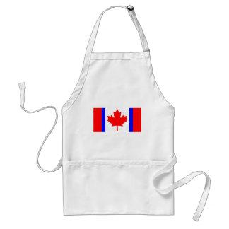 Camisetas canadienses de la bandera de la dualidad delantales