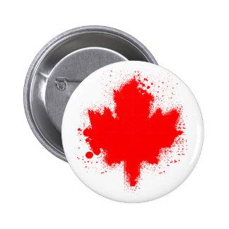Camisetas canadienses del chapoteo de la hoja de a pins