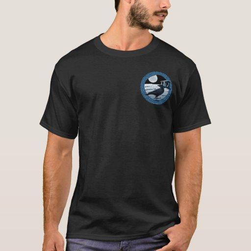 Camisetas célticas #2 de la luna, del cuervo y del